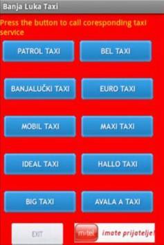 Banja Luka Taxi poster