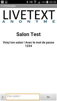LiveText - Anonyme apk screenshot