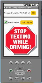 QMS No Texting poster