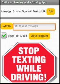 QMS No Texting apk screenshot