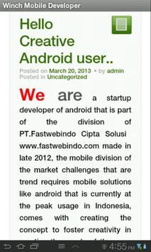 Winch Mobile apk screenshot