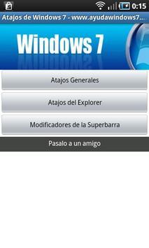 Atajos de teclado de Windows 7 poster