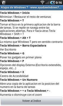 Atajos de teclado de Windows 7 apk screenshot