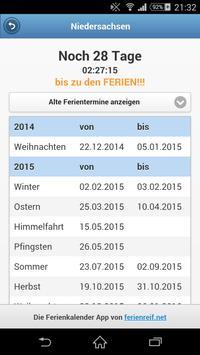 Ferienkalender Countdown apk screenshot