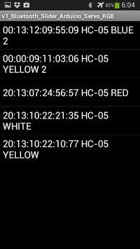 Bluetooth Servo RGB Arduino apk screenshot