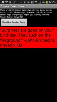 Emergency Services Quotes apk screenshot