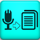 Talk to text (make document) icon