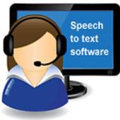Speech to edit text icon