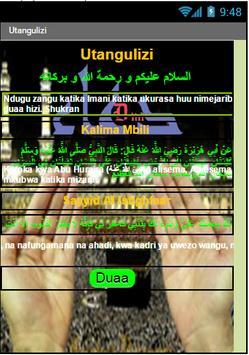 Dua (Swahili Version) apk screenshot