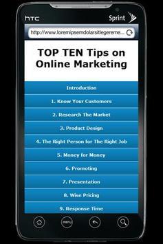 TOP TEN Online Marketing Tips poster
