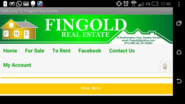 Fingold Real Estate poster