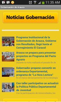 Gobernación de Arauca poster