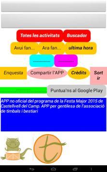 Festa Major 2015 Castellvell apk screenshot