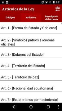 Constitución de Ecuador 2016 apk screenshot