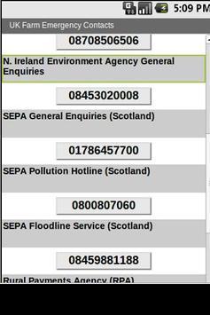 UK Farm Emergency Contacts apk screenshot
