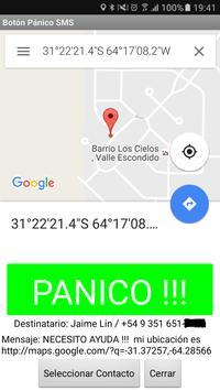 Boton Panico SMS apk screenshot