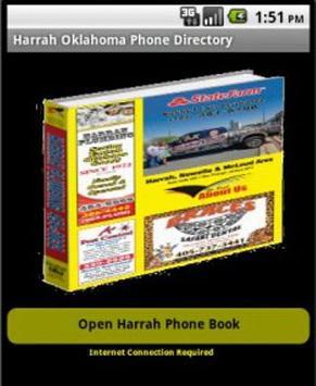 Harrah Oklahoma Yellow Pages poster