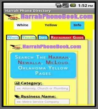 Harrah Oklahoma Yellow Pages apk screenshot