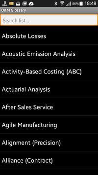 O & M Glossary apk screenshot