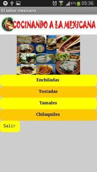 El sabor mexicano poster