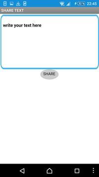 Share Text apk screenshot