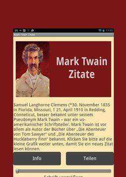Mark Twain Zitate - Deutsch poster