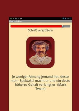 Mark Twain Zitate - Deutsch apk screenshot