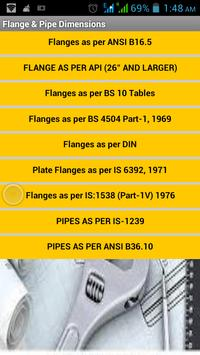Flange & Pipe Dimensions poster