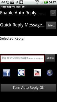 Auto Reply SMS/Text apk screenshot