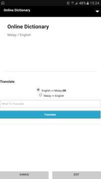 Kamus Bahasa Melayu Inggeris apk screenshot