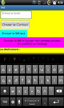 SMS avec ma position poster