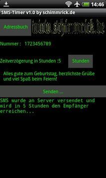 SMS Timer apk screenshot