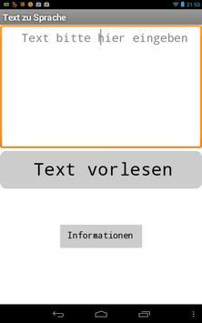 Text zu Sprache apk screenshot
