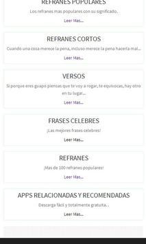Refranes, Frases Celebres apk screenshot