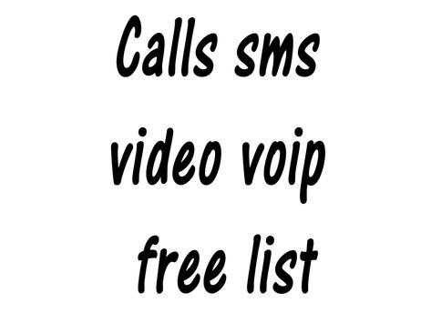 Calls sms video voip free list apk screenshot