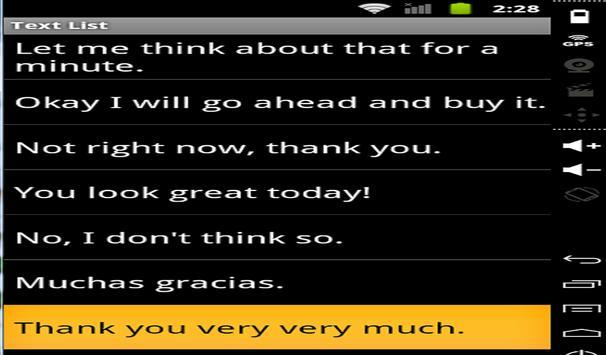 Speak For Me App apk screenshot