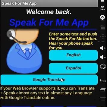 Speak For Me App poster