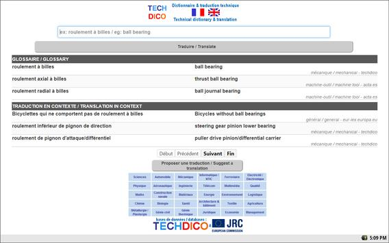 English<>French Dictionary apk screenshot