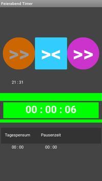 Feierabend Timer free apk screenshot