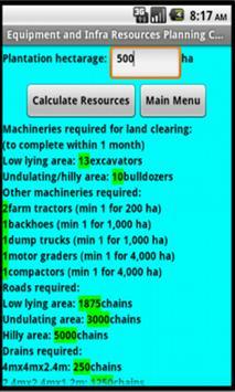 Oil Palm Resource Calculator apk screenshot
