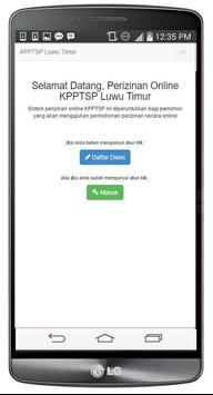 KPPT Luwu Timur apk screenshot