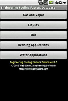 Fouling Factors Database Free poster