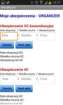 Ubezpieczenia - ORGANIZER apk screenshot