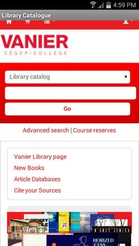 Vanier College Library APP apk screenshot