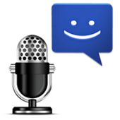 Write SMS and e-mail by voice icon