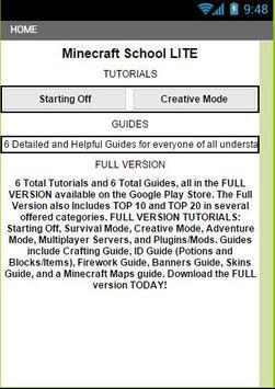 School of Minecraft Lite poster