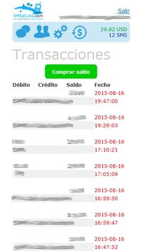 SMS a Cuba apk screenshot