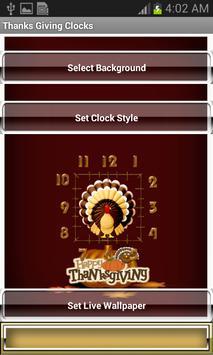 Thanks Giving Clocks apk screenshot