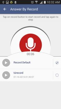 Auto answer call apk screenshot