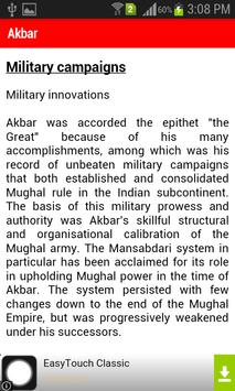 Mughal Empire History apk screenshot